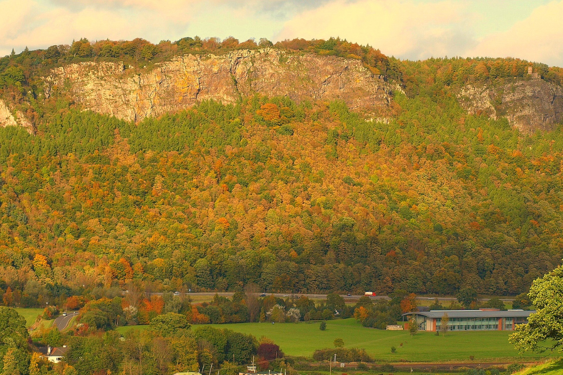 Kinnoull Hill from Perth in Autumn
